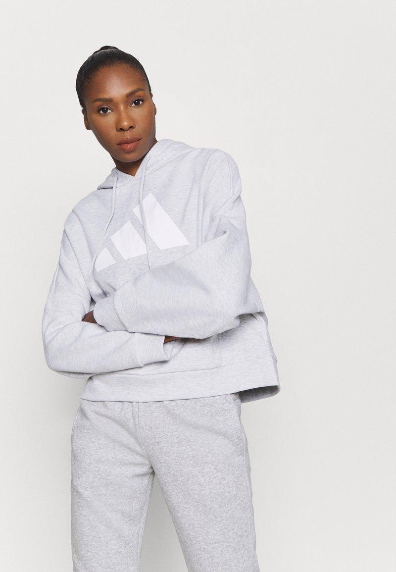 adidas Performance - HOODIE - Kapuzenpullover - light grey
