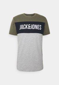 Jack & Jones - JCOTEMPTEE CREW NECK 3 PACK - T-shirt med print - navy blazer - 2