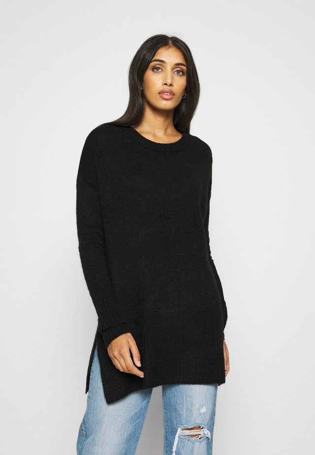 IHAMARA LONG - Strickpullover - black