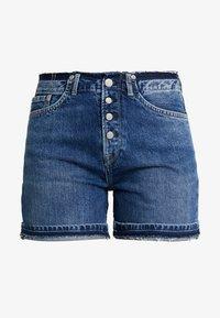 MARY REVIVE - Denim shorts - denim 110z archive mid blue
