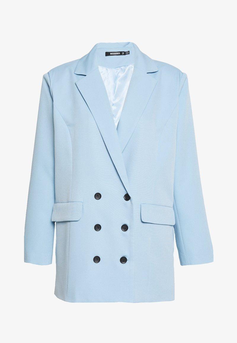 Missguided - OVERSIZED GRANDAD - Abrigo corto - baby blue