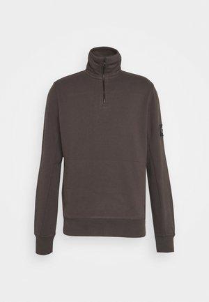 MONOGRAM BADGE MOCK NECK - Sweatshirt - aluminium grey