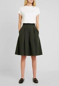 Opus - REJANA - A-snit nederdel/ A-formede nederdele - oliv green - 0