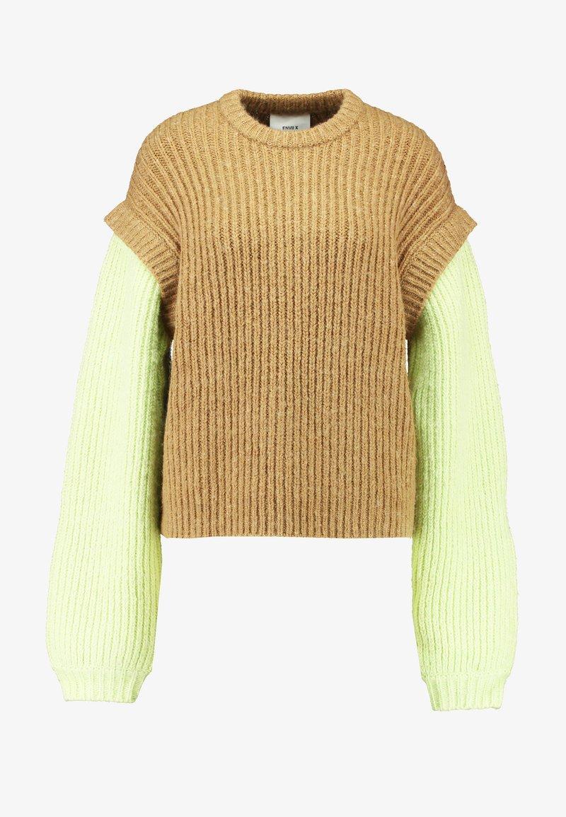 ENVII X FREJA WEWER Stickad tröja green dorra