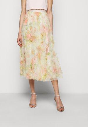 HARLEQUIN ROSE BALLERINA SKIRT - A-line skirt - beige