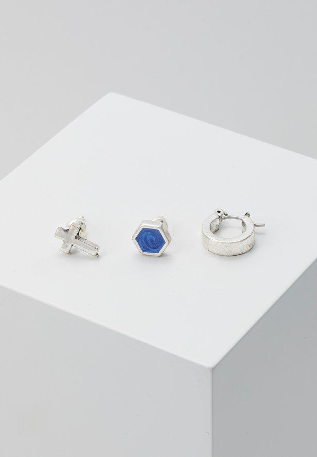 SODALITEEARRING 3 PACK - Boucles d'oreilles - rhodium-coloured