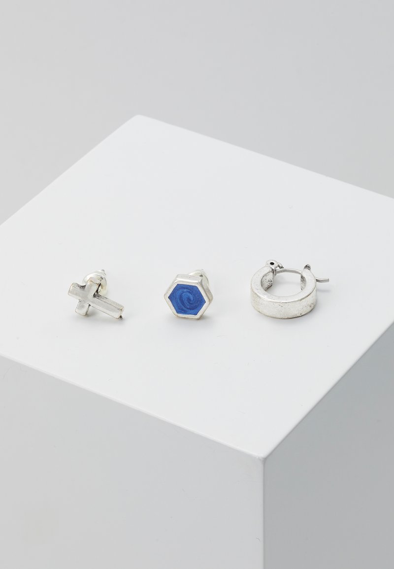 Icon Brand - SODALITEEARRING 3 PACK - Kolczyki - rhodium-coloured