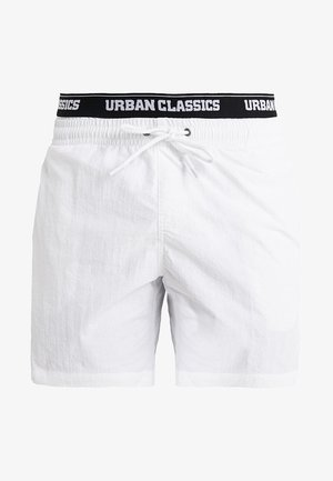 TWO IN ONE SWIM - Swimming shorts - white/black