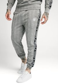 SIKSILK - DOG TOOTH CHECK CUFFED PANT - Tygbyxor - black/white - 0