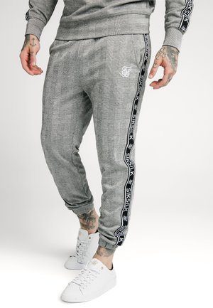 DOG TOOTH CHECK CUFFED PANT - Kangashousut - black/white
