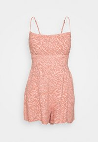 Abercrombie & Fitch - FRONT RUCHED ROMPER  - Mono - red dot - 4
