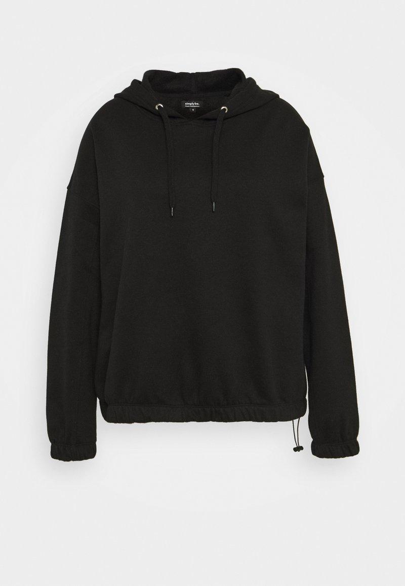 Simply Be - PULL ON HOODIE - Sweatshirt - black