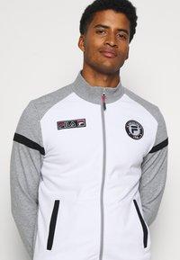 Fila - SMUDO - Zip-up hoodie - light grey melange/white - 3
