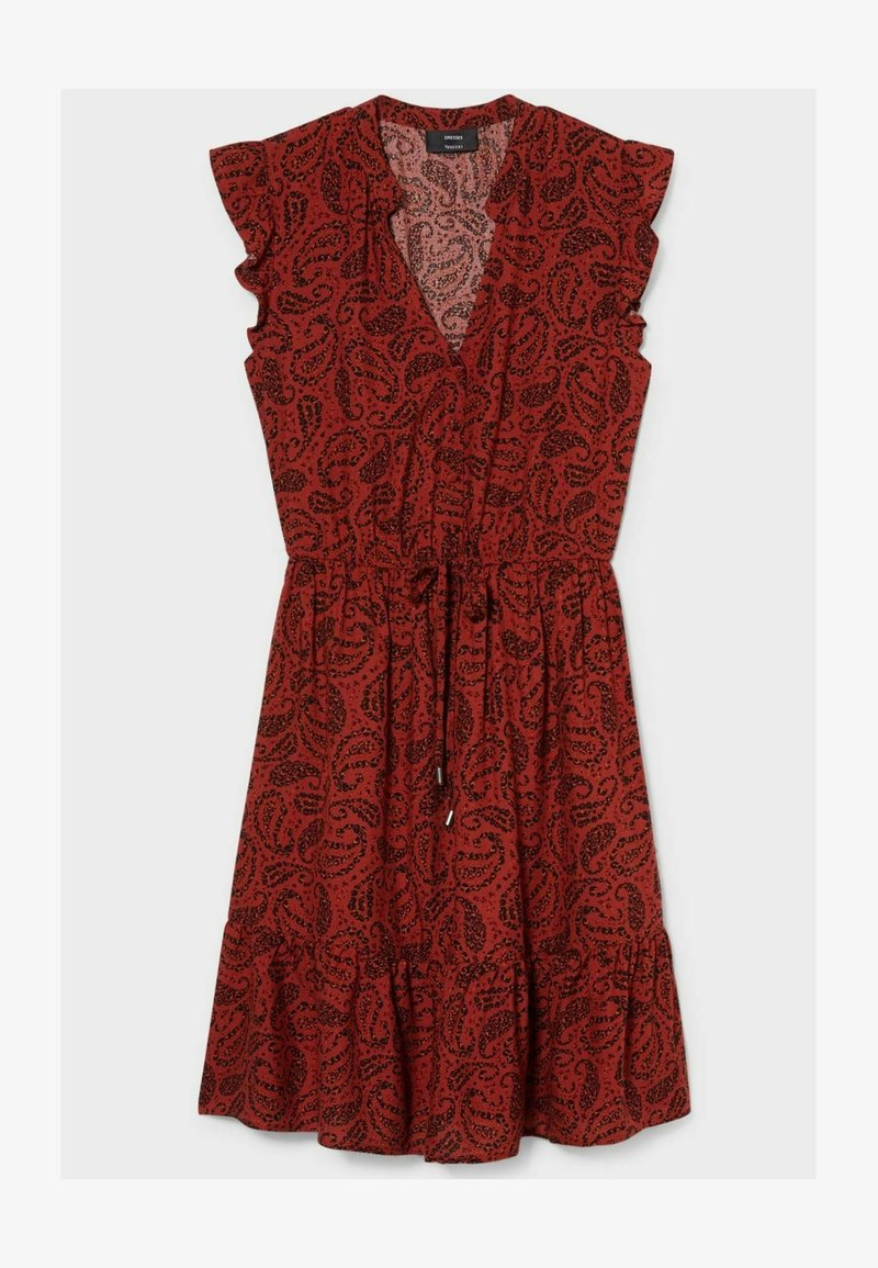 C&A - Day dress - dark red  black