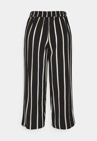 ONLY - ONLWINNER PALAZZO CULOTTE PANT - Bukse - black/camel - 1