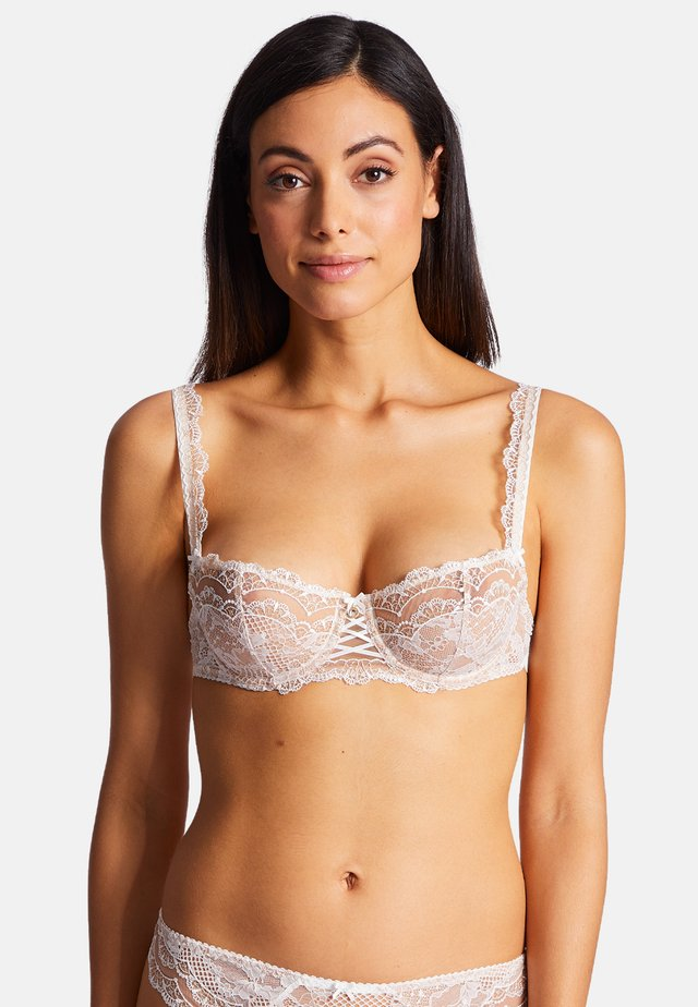 Underwired bra - beige, white