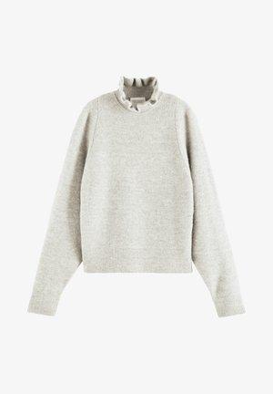 Fleece trui - grey melange