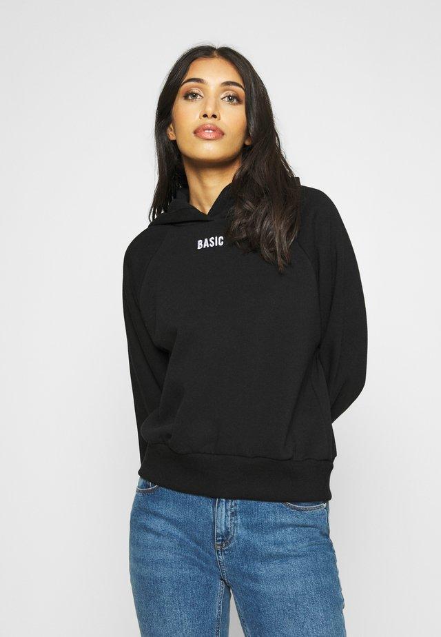 ELLEN - Hoodie - black basic