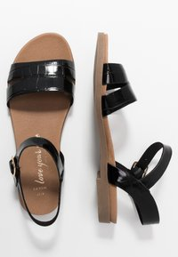 New Look Wide Fit - WITE FIT GOLLY GREAT COMFY FOOTBED - Sandaler - black - 3