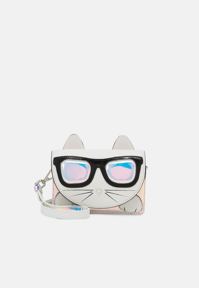 KARL LAGERFELD - SHOULDER BAG - Taška s příčným popruhem - light grey