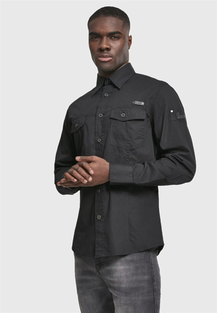 Brandit - SLIM FIT - Shirt - black