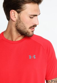 Under Armour - HEATGEAR TECH  - T-shirts print - red/graphite - 5