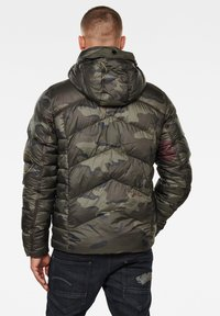 G-Star - WHISTLER HOODED PUFFER - Winter jacket - forest night circle camo - 1