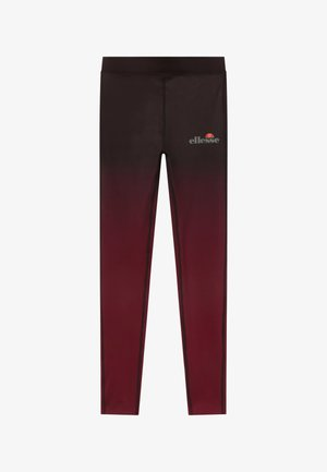 MEDITI PERFORMANCE LEGGING - Punčochy - black/burgundy