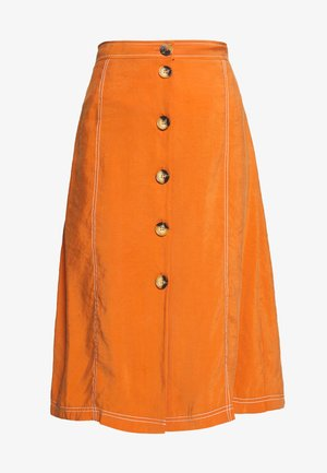 VALLEY MIDI SKIRT - Áčková sukně - rust