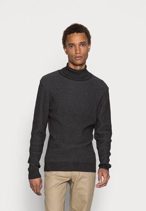 TWO TONE JUMPER - Jersey de punto - mottled dark grey