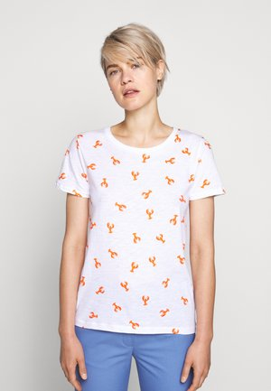 ALLOVER LOBSTER TEE - Triko s potiskem - ivory bright/persimmon