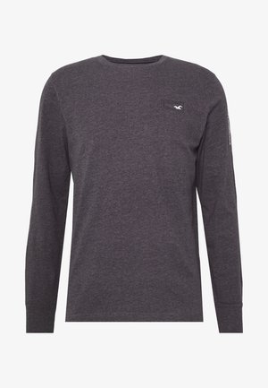 COLORBLOCK SPORT LOGO - Long sleeved top - black