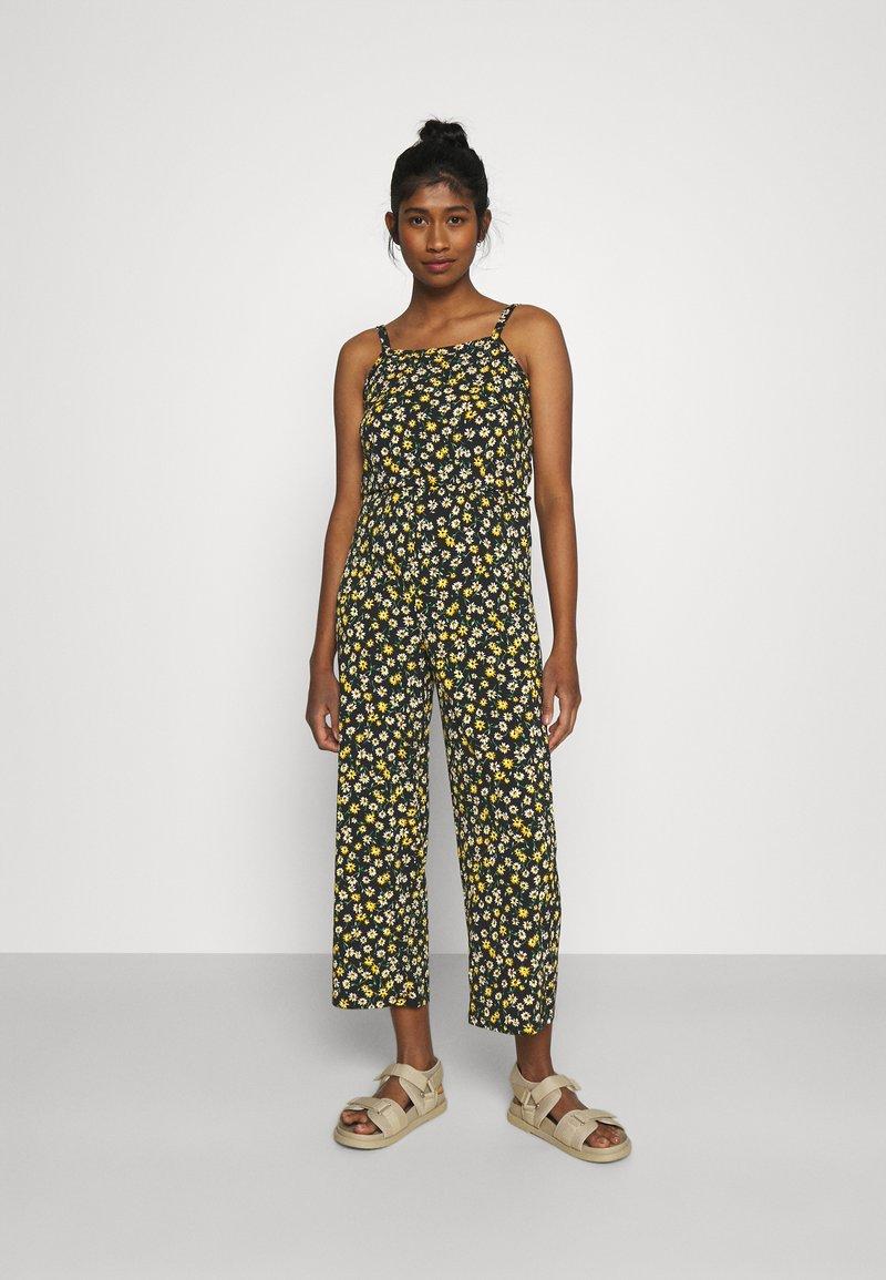 JDY - JDYALINA STRAP - Jumpsuit - black/yellow