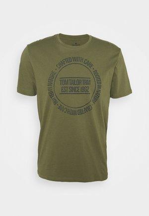 PRINTED - T-shirt print - oak leaf green