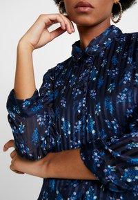 YAS - YASRICHA 3/4 MIDI DRESS - Shirt dress - navy blazer - 5