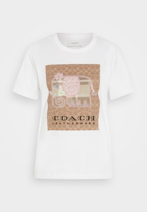 ELEPHANT SIG  - Print T-shirt - off-white