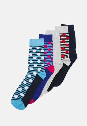 JACGEO DOTS SOCK 5 PACK - Ponožky - bonnie blue/dlight grey melange/surf the web/medieval blue/light grey melange