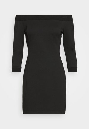 OFF THE SHOULDER MILANO DRESS - Robe fourreau - black