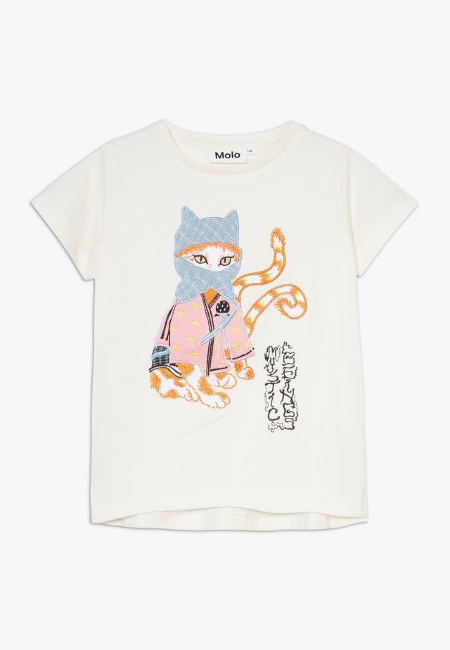 REENASA - T-shirt imprimé - white