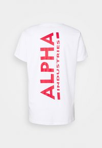 Alpha Industries - Print T-shirt - white/red - 7