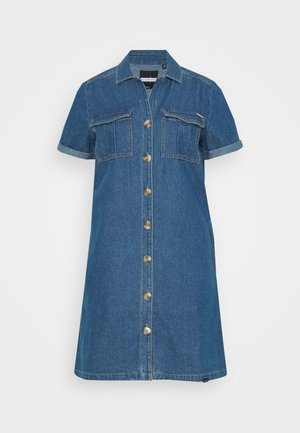 KAYA UTILITY DRESS - Jeansklänning - denim indigo dark mid