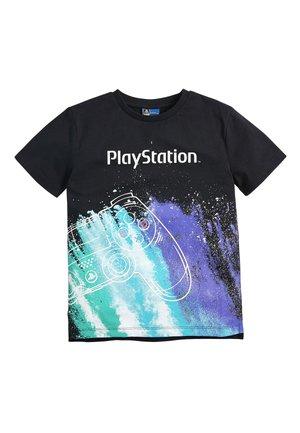 BLACK PLAYSTATION GALACTIC CONTROLLER T-SHIRT (3-16YRS) - Print T-shirt - black