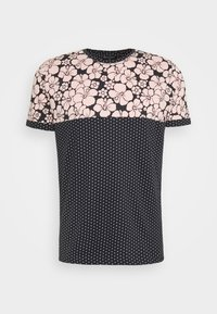 PEARL - Print T-shirt - navy/pale pink