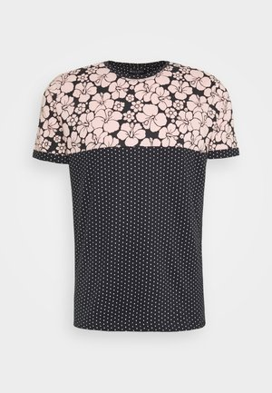 PEARL - T-shirt con stampa - navy/pale pink