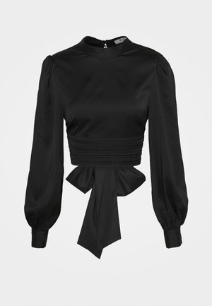OPEN BACK BLOUSE - Bluzka - black