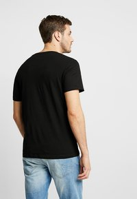 TOM TAILOR - 2 PACK - Basic T-shirt - black