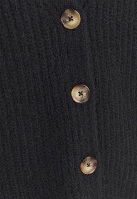 Zign - CHUNKY WOOL BLEND CARDIGAN - Cardigan - black - 6