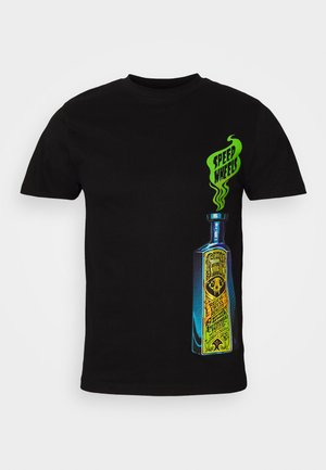 SANTA CRUZ UNISEX SPEED WHEELS SNAKE OIL - T-shirt con stampa - black