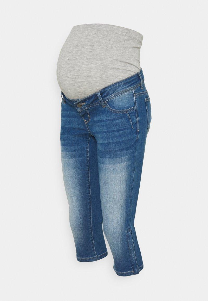 MAMALICIOUS - MLPIXIE CAPRI - Szorty jeansowe - light blue denim