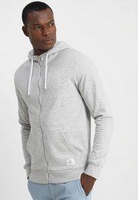 Solid - MORGAN ZIP - veste en sweat zippée - light grey - 0
